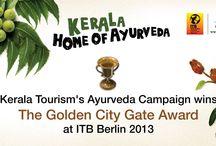 Awards / Board that showcases various awards for Kerala Tourism