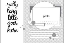 Sketches for Scrap Layouts / by Artsy Albums