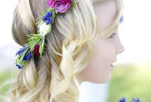 Hair Flowers by Wedding Flowers in Cornwall / Real life Weddings with fresh flowers.