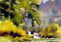 Watercolor scenery 1