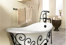 wrought iron bath stand