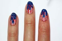 4th of July Nail Art Designs / Here are some different ways to sport red, white and blue on your fingertips.