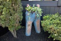 Jeans ghiveci/flori