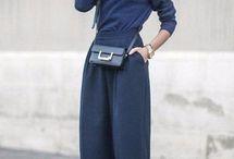 Комбинации с широкими брюками