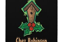 Christmas Bird House Customized Collection / Personalized Retro Christmas Birdhouse goodies customizable to your specifics.