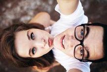 Cute couple selfies