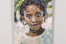 Коллажи / Картины выполненные из обрывков глянцевых журналов в технике коллаж  collage , коллаж , art