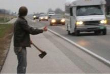 hitchhike / Hitchhikers, lifters en ook de bestuurders natuurlijk, opgelet, dit is een bord over alles wat hiermee te maken heeft!
