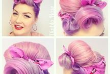 1950s hair / 1950s classic vintage and pin up/ rockabilly hair and makeup inspiration and tutorials