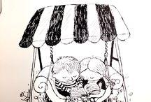 schwarz-weiß cartoons