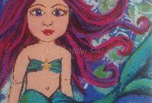 Mermaid / A mermaid painting