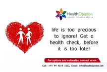 Preventive Health Screening / Get a health check up done before it is too late!!!