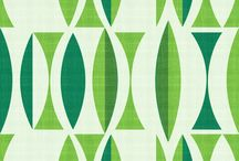 Seventies Wallpaper and Fabric / Vintage furniture