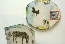 tecnicas ceramicas / objetos decorados con fotoceramica,