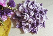 CROCHET FLOWERS & LEAVES VIDEO