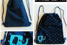sac a dos reversible -mochila reversible -reversible drawstring bag by leeloo corner