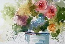 virágcsokor vázában