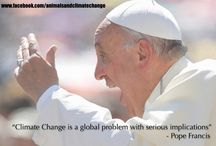 Pope Francis on Climate Change / Pope Francis has pulled no punches about the reality of Climate Change and that it is likely to destroy the planet. Now we need him to recognise that the leading cause is animal farming.