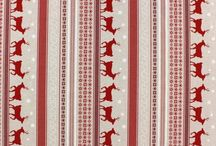 Christmas fabric / Collection of fabric with Christmas related motifs