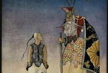 """Thomas Mackenzie / Thomas Mackenzie родился в Англии. Был иллюстратором и владел техникой акварели. Его ранние работы  созданы для книг """"Ali Baba"""" и """"Aladdin """". Автор известен прекрасными иллюстрациями к таким изданиям как: James Stephens """" The Crock of Gold"""" , Arthur Ransome  """"Aladdin and His Wonderful Lamp in Rhyme"""" , Christine Chaundler  """"Arthur and His Knights"""" и James Elroy Flecker's """"Hassan"""". Он мог бы стать прерасным живописцем. Работы автора яркое отображение стиля модерн"""