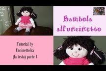 bambola all'uncinetto (foto e video-tutorial) / video tutorial per realizzare una bambola all'uncinetto