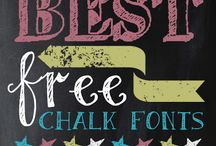 printables and fonts / by Catherine Mollica