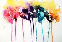 Cool Watercolour Things / Watercolour designs that are visually striking, and slightly unusual. / by Mikie Daniel
