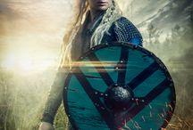 Vikings Lagertha photoshoot / What to do when your wife has a birthday and you are out of ideas what to buy? Well .. go a head and buy or try to find a hand made Viking armour, arm braces, shield, hand embroided shirt, authentic viking sword and other needed gear. And of course get a one eyed horse who can lay down on command.  Full Story Here http://anttikarppinen.com/2016/09/watch-out-lagertha-there-is-a-new-badass-shieldmaiden-in-town/