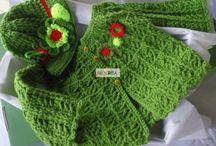 Vêtements bébé crochet / Accessoires et layette crochetée main