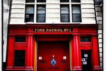 NYC Firehouse  / #firehouse #NYC #red #firemen
