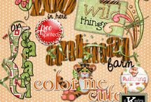 Tiger Town Digital Scrapbooking Collection by Kathryn Estry / Tiger Town is cute, versatile (not just about tigers), and loaded with goodies you'll love!  Included are instructions for creating your own little tiger along with two of Kathryn's Original Characters, Tony and Tessi.