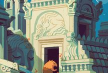 Architectural Illustration / the house that art built