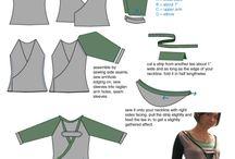Střihy na kojící tričko