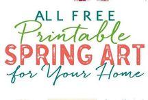 Easter/spring printables