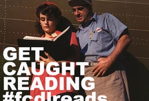 Get Caught Reading / May is Get Caught Reading Month so pin or tweet pictures of yourself reading with the tag #fcdlreads