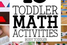 Maths corner / Math activities for home setup