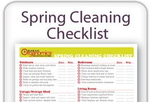 Organizing-Cleaning Hints / Spring cleaning happens every year--make the best use of your time