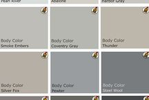 Palette / Paint colors being considered for the house / by Chandra Hollier