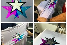 """Stretch Metallic HTV / Metallic Stretch HTV looks like shinny mirror while on the liner. However, after pressed on garment it has a more matte """"metallic look"""". This material will also stretch on stretchable materials! The perfect Metallic Heat Transfer Vinyl for stretchy materials!"""