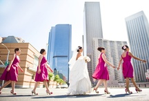 Urban Wedding Photos / Sky scrapers and streets signs just give such an edge to the metropolitan bride and groom. Here are some of our favorite urban wedding photos.