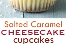 Salted caramel cheesecake cupcake