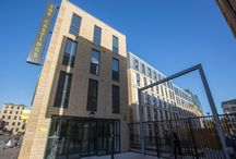 Robert Castings Student Accommodation @ Knightbridge Road - Huddersfield / The project included the construction of a 653 bed student accommodation together with communal facilities, landscaping and formation of a new footway adjoining the River Colne.