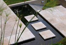 water in garden / вода в современном саду