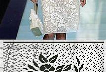 филейное вязание юбка