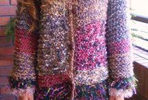 chaquetón mujer tejido a palillos