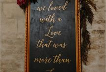 Miscellanea wedding signage inspiration