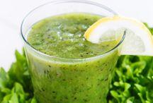 Smoothies:  Groen / Lekker groen smoothies vir die hele dag!