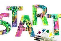 Marabu Art Fun / Art and play using Marabu products like Art Spray, Art Crayons, Easy Marble, Fashion Spray and more.
