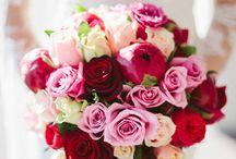 pink+red wedding