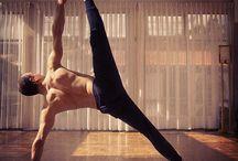 Dude doing yoga
